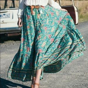 ***ISO***SPELL Folktown Maxi Skirt in Teal M or L